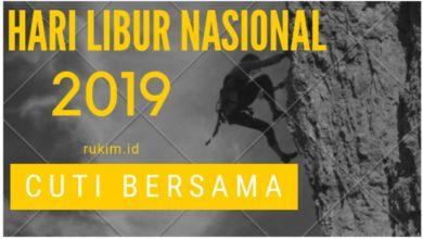 Photo of Hari Libur Nasional dan Cuti Bersama Tahun 2019