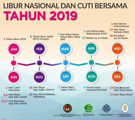 Hari Libur Nasional 2019