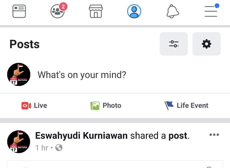 Cara hapus status facebook terbaru 1