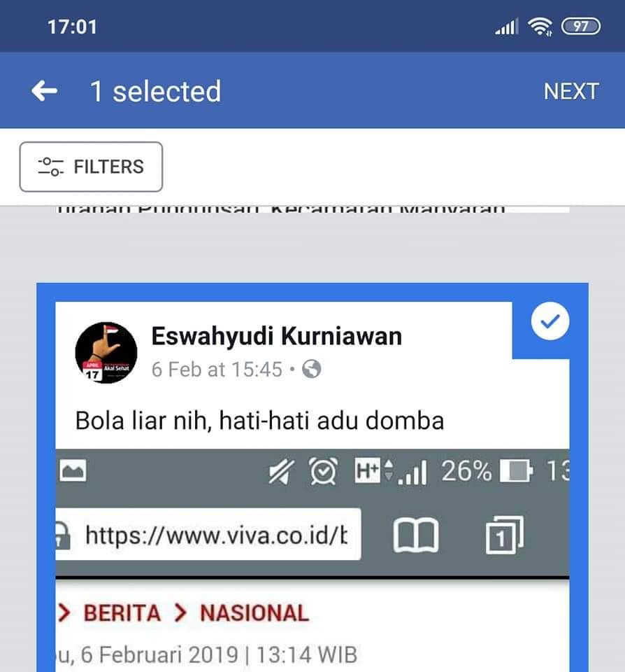 Cara hapus status facebook terbaru 2