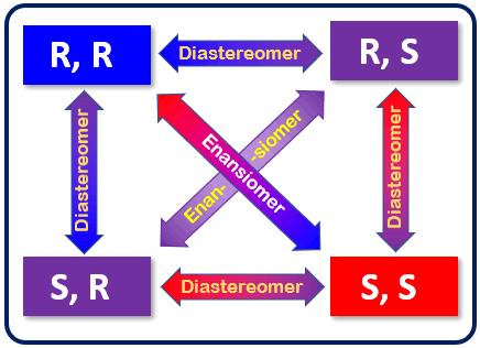 Hubungan R,R vs S, S Enansiomer dan Diastereomer