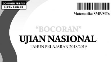 Bocoran Soal UN Matematika 2019