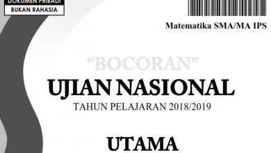 Photo of Bocoran Soal UN (UNBK/UNKP) Matematika IPA 2019 PDF