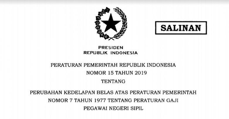 Download PP Nomor 15 Tahun 2019