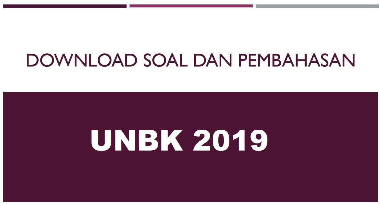 Download Soal UNBK 2019