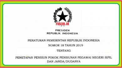 Photo of Download PP Nomor 18 Tahun 2019 Tentang Penetapan Pensiunan Pokok PNS dan Janda/Duda PDF