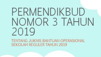 Photo of Download Permendikbud Nomor 3 Tahun 2019 tentang Petunjuk Teknis Bantuan Operasional Sekolah (BOS) Reguler PDF