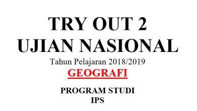 Photo of Latihan Soal UN (UNBK) Geografi DKI Jakarta 2019 PDF DOC