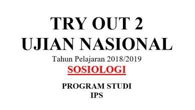 TO UN DKI Sosiologi 2019