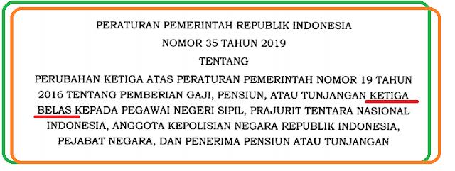 Download PP Nomor 35 tahun 2019 Gaji Ketiga Belas