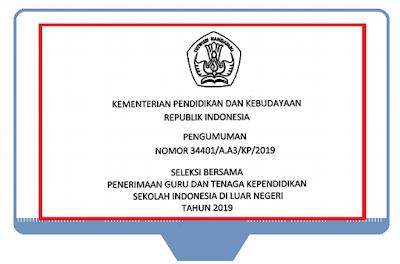 Penerimaan Guru dan Tenaga Kependidikan SILN 2019