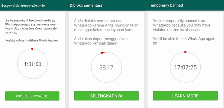 Whatsapp suspend blokir banned