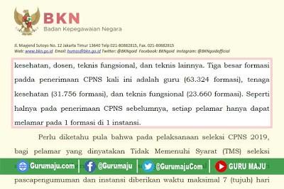 Info BKN Info Tes CPNS 2019