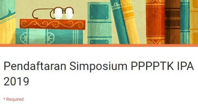 Pendaftaran Simposium PPPPTK IPA 2019