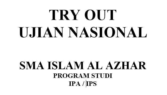 Soal Try Out YPI Al Azhar