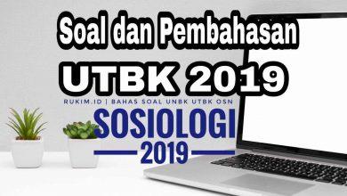 Download Pembahasan Soal UTBK Sosiologi 2019