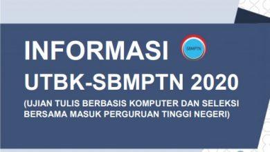 Informasi UTBK 2020 SBMPTN 2020