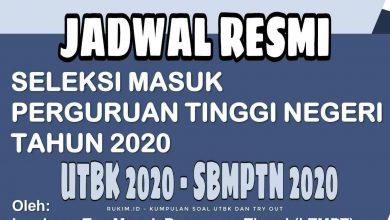 Photo of Jadwal UTBK 2020 dan SBMPTN 2020 Resmi Dirilis Kemdikbud