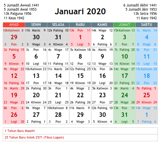 Kalender Indonesia 2020: Download Kalender Islam 2020 Pdf