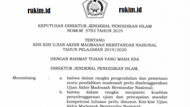 Photo of Download Kisi-Kisi UAMBN 2020 MTs MA Tahun Pelajaran 2019/2020 PDF
