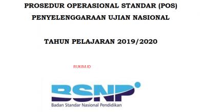 Photo of Download POS Ujian Nasional (UN) 2019/2020 PDF
