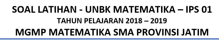 Latihan Soal UN Matematika IPS 2020