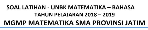 Latihan Soal UNBK Matematika Bahasa 2020 PDF