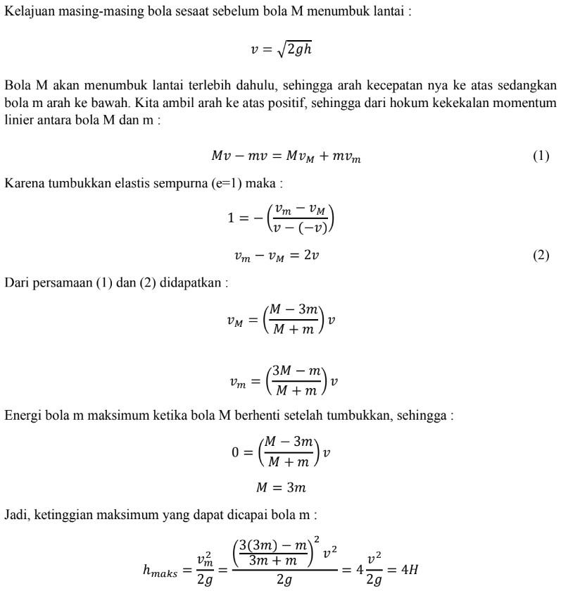 Pembahasan Soal Pembahasan OSN Fisika 2020 no 9