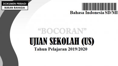 Bocoran Soal Bahasa Indonesia US SD 2020