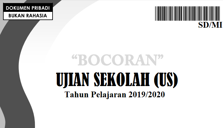 Download Bocoran Soal US SD 2020 PDF