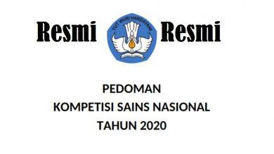 Photo of Jadwal Resmi Kompetisi Sains Nasional (KSN OSN) 2020