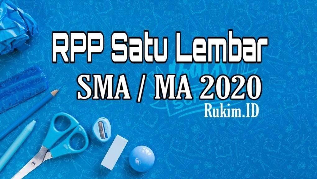 Download RPP 1 Lembar 2020