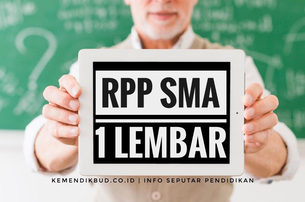 Download RPP 1 Lembar Kelas X XI XII