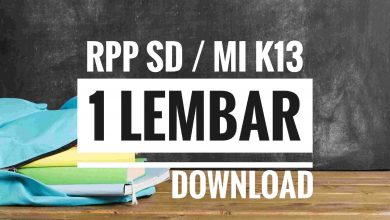 Photo of Download RPP Satu Lembar Kelas 1 2 3 4 5 6 SD MI 2020 K13