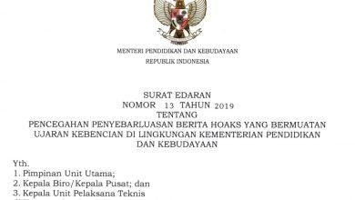 Photo of Download Surat Edaran Nomor 13 Tahun 2019 Tentang Pencegahan Hoax