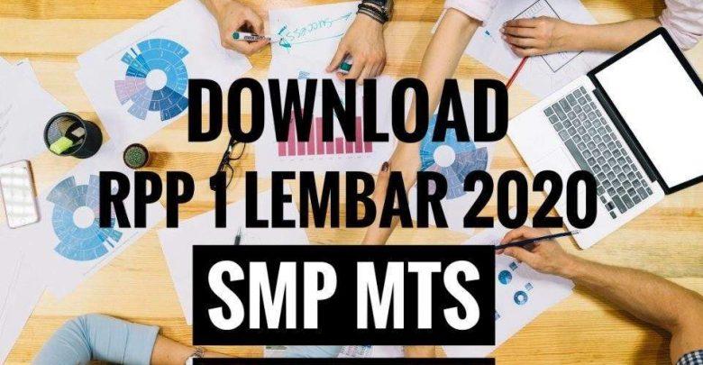 Rpp satu lembar SMP