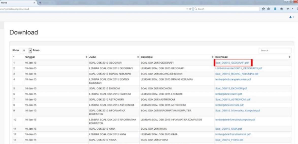 Cara Registrasi Login Download Soal KSN 2020