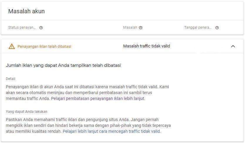 Cara mengatasi pembatasan iklan google adsense 2020