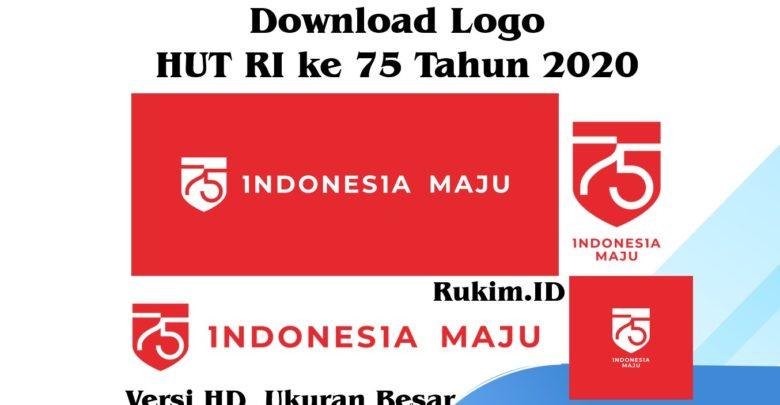 Download Logo HUT RI ke 75 tahun 2020 Makna dan Tema