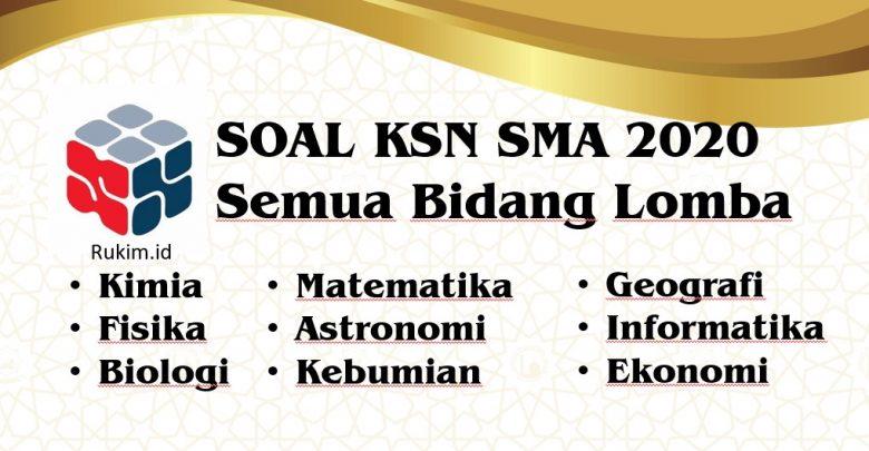 Download Soal KSN 2020