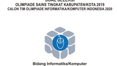 Photo of Download Soal dan Pembahasan KSN Informatika dan Komputer SMA Tahun 2020 PDF