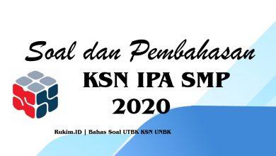 Photo of Download Soal dan Pembahasan KSN IPA SMP Tahun 2020 Lengkap PDF