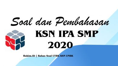 Download Soal Pembahasan KSN IPA SMP 2020