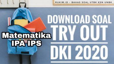Download Soal TO DKI 2020 Matematika IPA IPS
