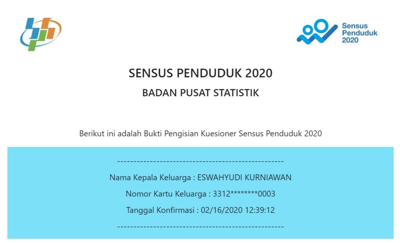 Langkah Pengisian Sensuk Penduduk Online 2020