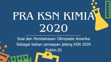 Latihan Soal dan Pembahasan KSN Kimia 2020