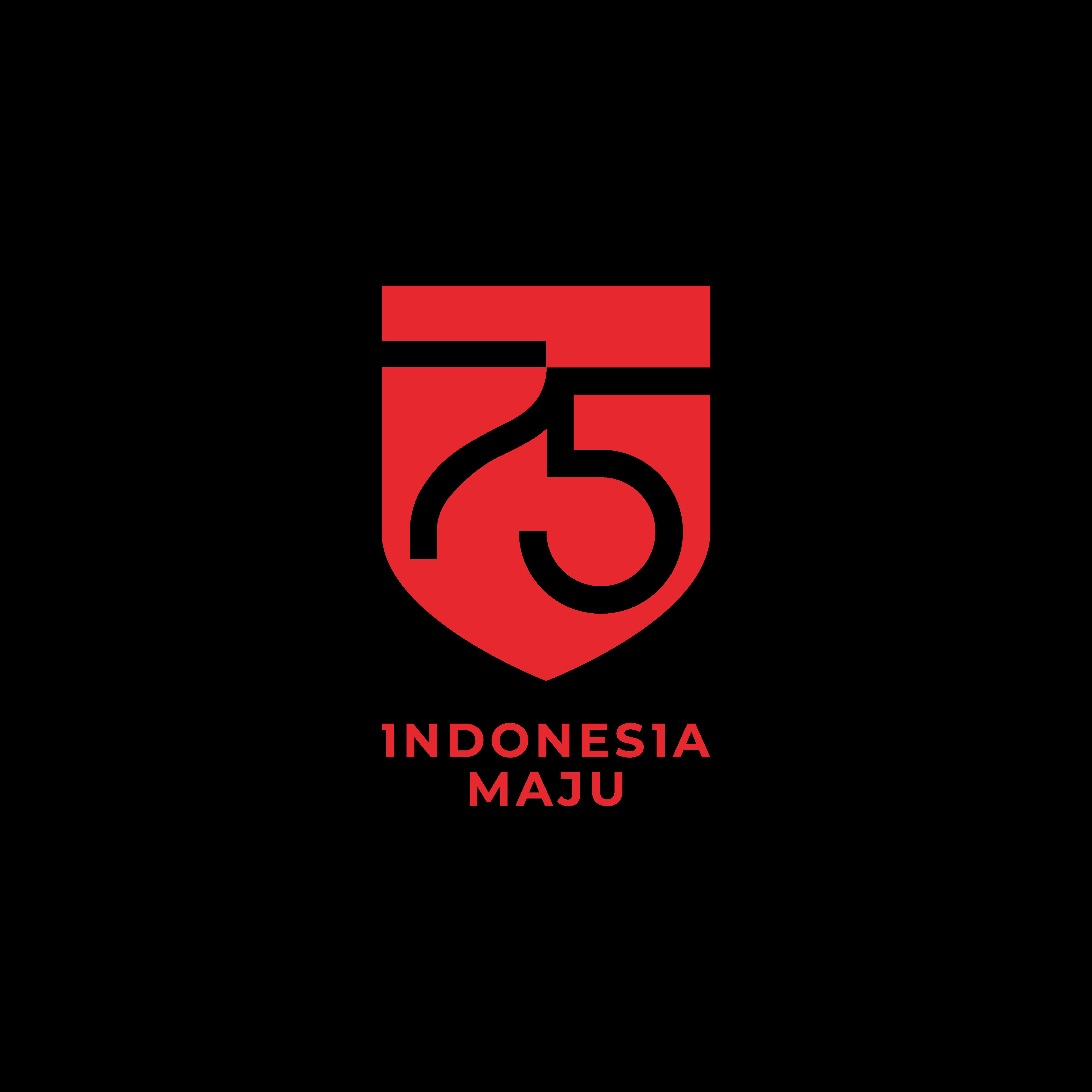 Logo HUT RI ke 75 transparan