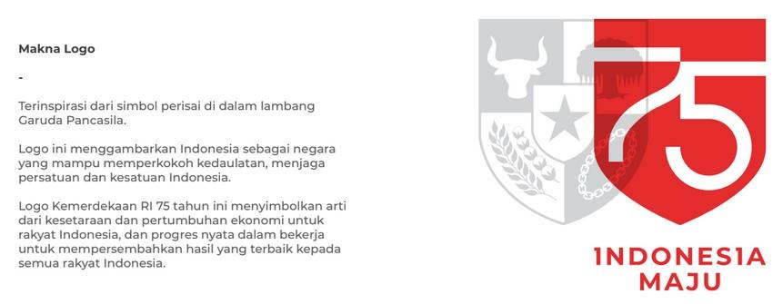 Makna Logo HUT Kemerdekaan RI ke 75 tahun 2020