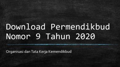 Photo of Download Permendikbud Nomor 9 Tahun 2020 tentang Organisasi dan Tata Kerja Kemendikbud