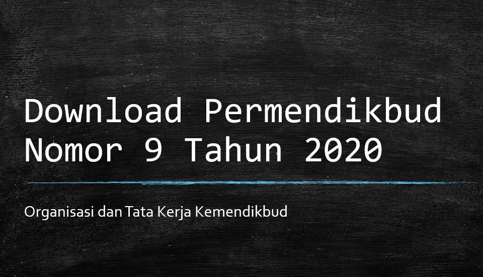 Permendikbud Nomot 9 Tahun 2020